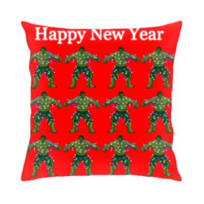 Подушка Халки и Новый Год