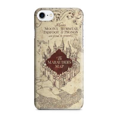 Чехол для iPhone 7/8 Карта мародёров из Гарри Поттера
