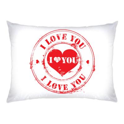 Подушка Печать I Love You