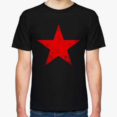 Футболка Потертая Красная Звезда