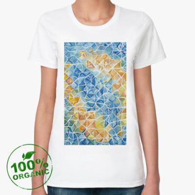 Женская футболка из органик-хлопка Рыбы сквозь блики