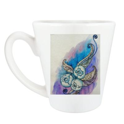 Чашка Латте Пионы