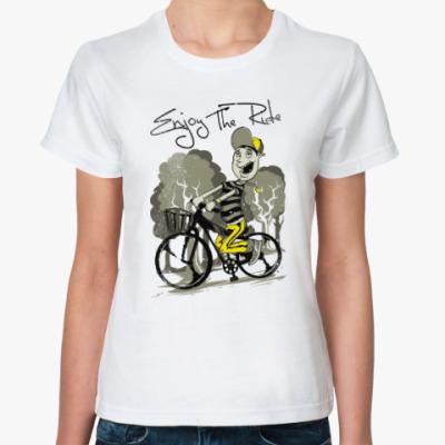 Классическая футболка Придурок на велике