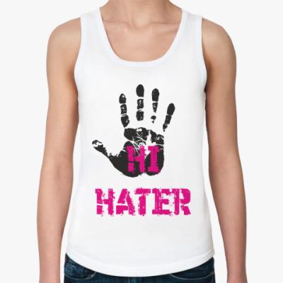 Женская майка HI HATER / BYE HATER