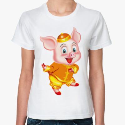 Классическая футболка PIG YEAR