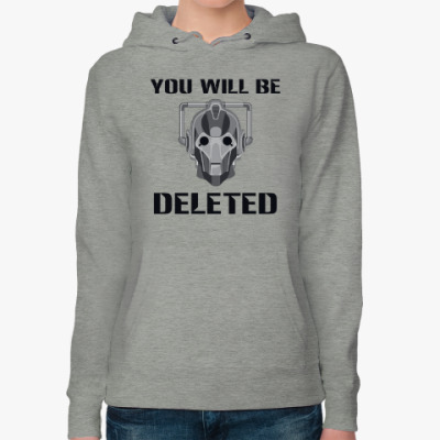 Женская толстовка худи You will be DELETED Doctor Who