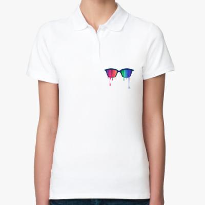 Женская рубашка поло Хипстер: очки