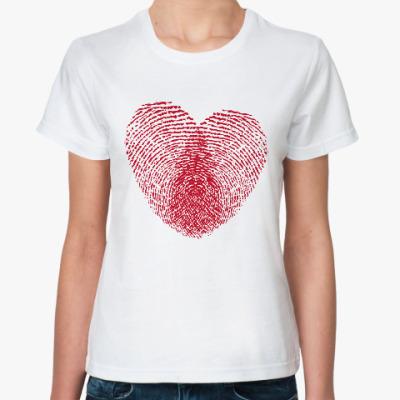 Классическая футболка Отпечатки Любви