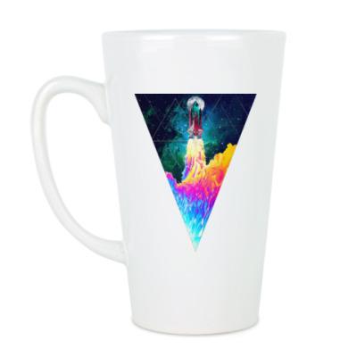 Чашка Латте Запуск космического корабля