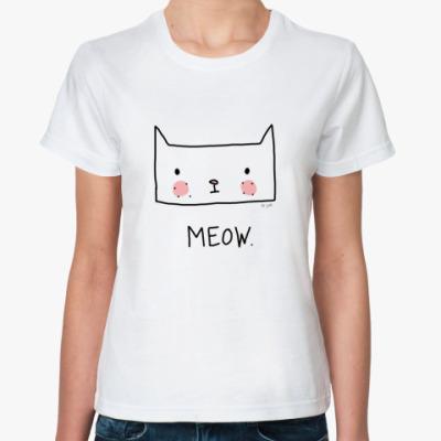 Классическая футболка MEOW