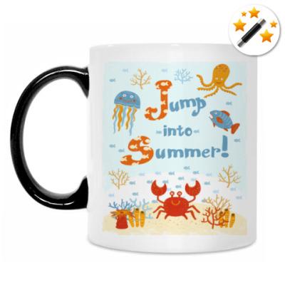 Кружка-хамелеон Jump into summer!