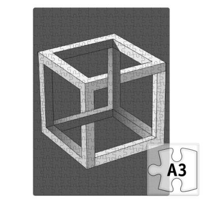 Пазл Невозможный Куб 3D