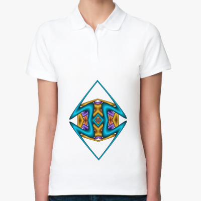 Женская рубашка поло Ромб