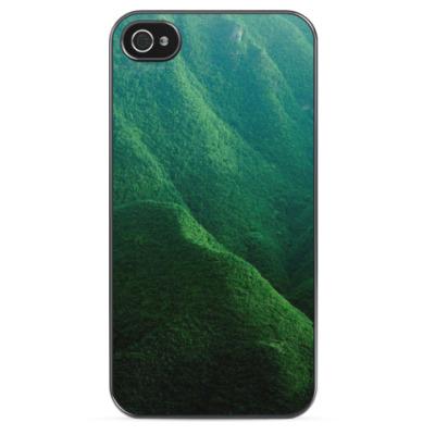 Чехол для iPhone Зеленые горы