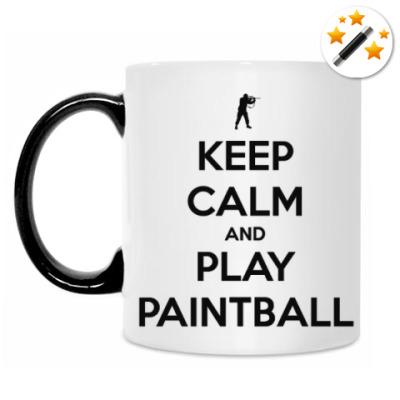 Кружка-хамелеон Keep Calm And Play Paintball