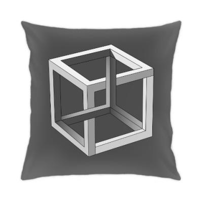 Подушка Невозможный Куб 3D