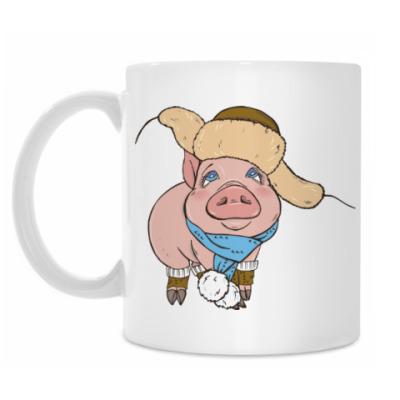 Кружка Новогодняя Свинка
