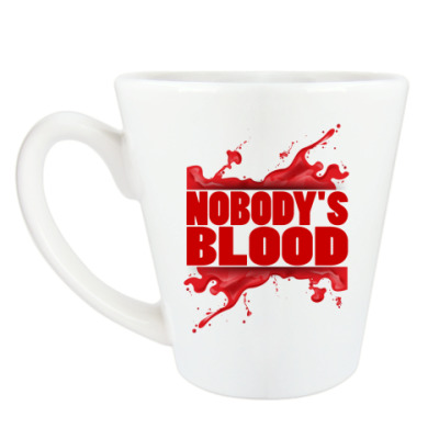 Чашка Латте Nobody's Blood