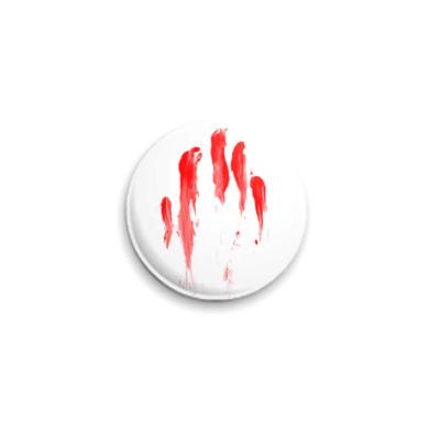 Значок 25мм Кровавый след