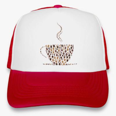 Кепка-тракер Кофе из кофейных зерен
