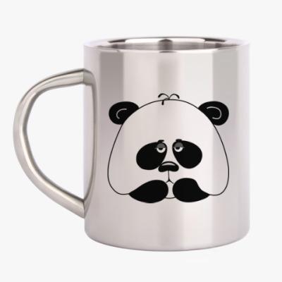 Кружка металлическая Грустная панда