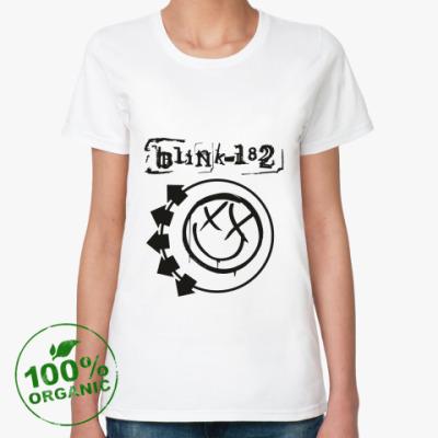 Женская футболка из органик-хлопка Blink 182