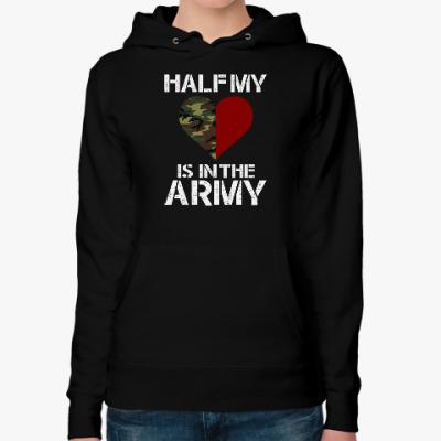 Женская толстовка худи Вторая половинка в армии
