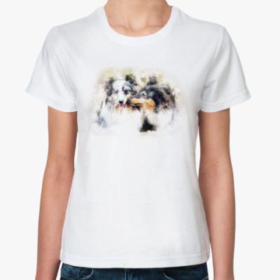 Классическая футболка Собака, Колли