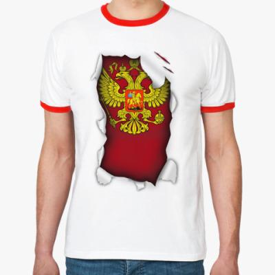 Футболка Ringer-T 'Герб России'