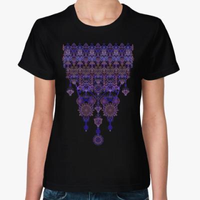 Женская футболка узор монисто,Ажур,кружево,lace