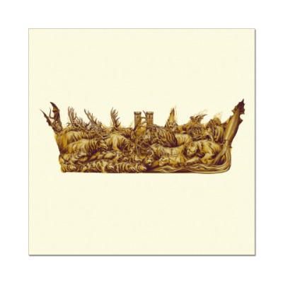Наклейка (стикер) Игра Престолов: Корона