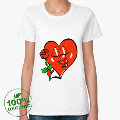 Женская футболка из органик-хлопка Влюбленное сердце