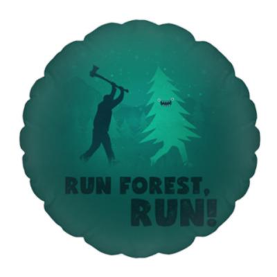Подушка Run forest run! New Year