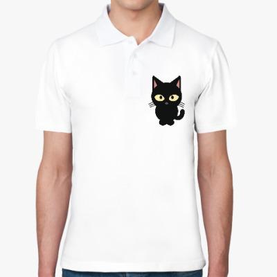 Рубашка поло Черный Котик