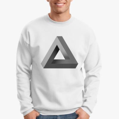 Свитшот Невозможный Треугольник 3D