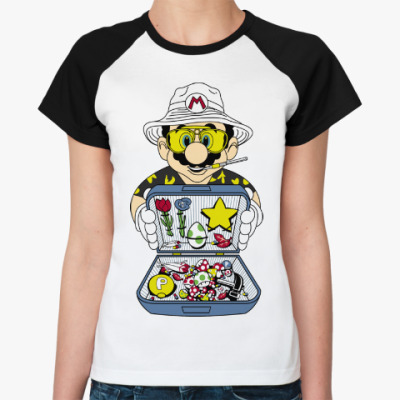 Женская футболка реглан Супер Марио - Рауль Дюк