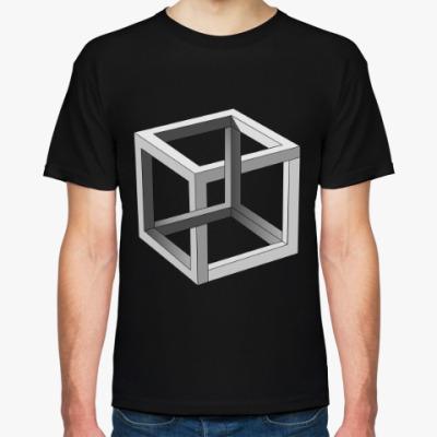 Футболка Невозможный Куб 3D