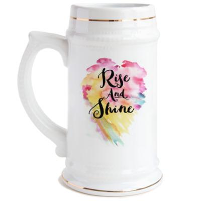 Пивная кружка Rise and Shine