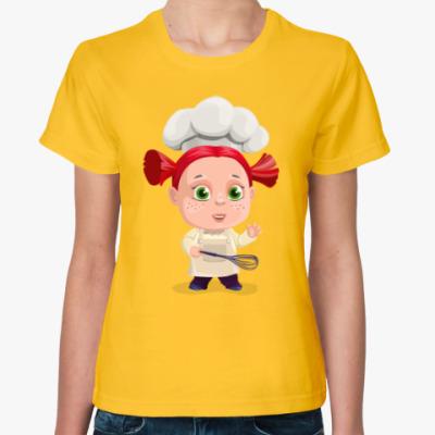 Женская футболка Поварёнок
