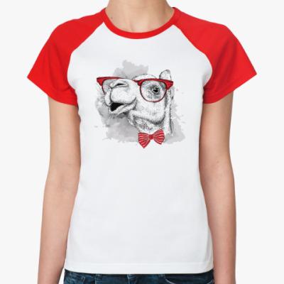 Женская футболка реглан Верблюд