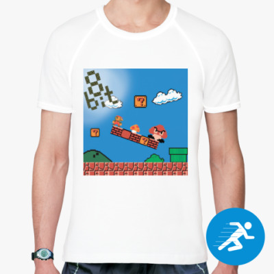 Спортивная футболка mario 8 bit