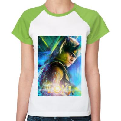 Женская футболка реглан Loki