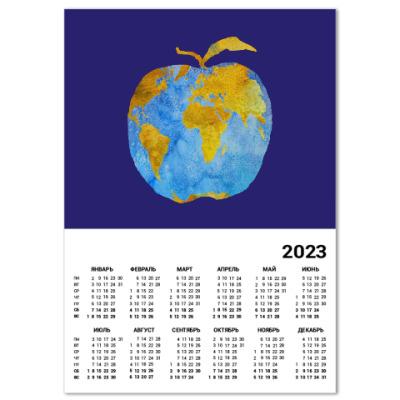 Календарь Apple Earth