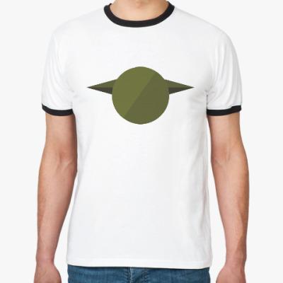 Футболка Ringer-T Магистр Йода (Yoda) минимализм