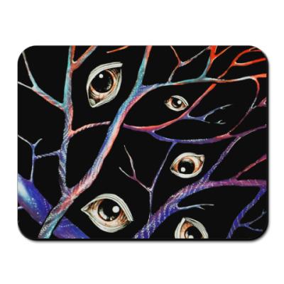 Коврик для мыши Глаза, вены, абстракция, искусство, арт