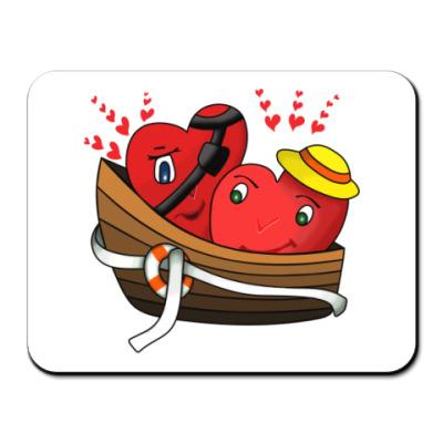 Коврик для мыши Двое в лодке