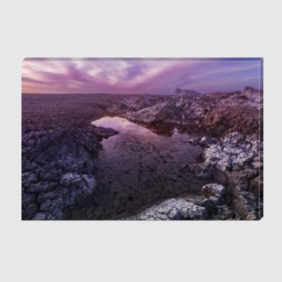 Холст Вечер на вулкане