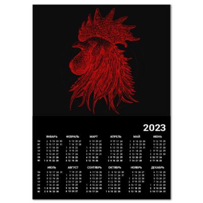 Календарь Красный петух символ Года