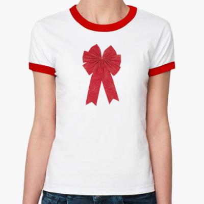 Женская футболка Ringer-T   Бантик