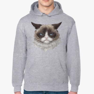 Толстовка худи Grumpy Cat / Сердитый Кот